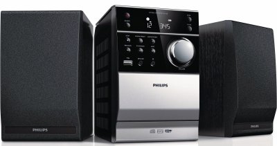 Philips Micro-Stereo-System MCM 1120/12 (Schwarz-Silber)