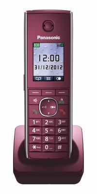 Panasonic Telefon-Mobilteil KX-TGA855EXR (Weinrot)