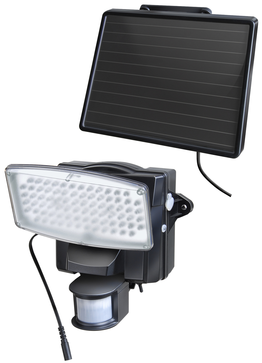 brennenstuhl Solar LED-Strahler SOL 80 IP 44 mit Bewegungsmelder schwarz (1170810)